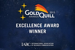 Gold Quill Award Winner - 2015