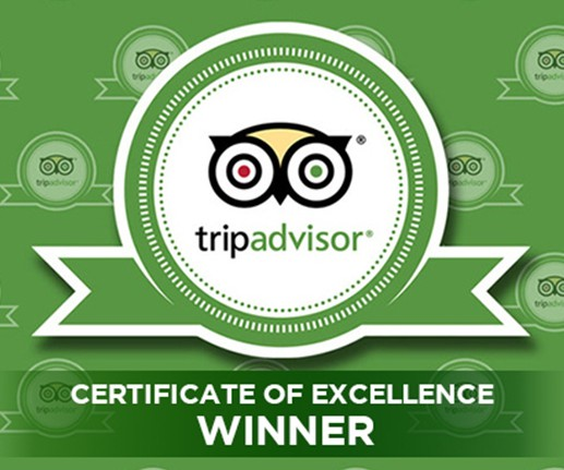 TripAdvisor's 2015 Certificate of Excellence Award