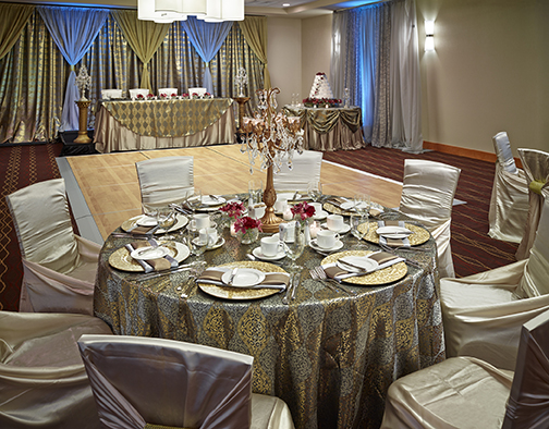 Wedding Set-Up at the DoubleTree by Hilton™ West Edmonton